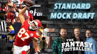 Fantasy Football 2016 - Standard Mock Draft + Preseason News - Ep. #241