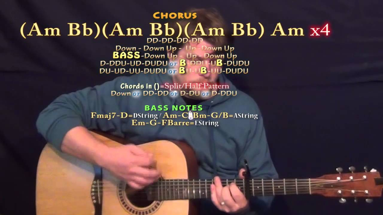 Dessert Dawin Guitar Lesson Chord Chart Capo 6th Youtube
