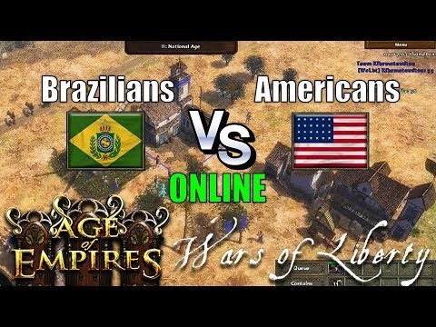 Brazil vs America Age of Empires 3 Wars of Liberty Online