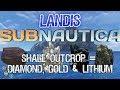 Shale Outcrop = Diamond, Gold & Lithium - Subnautica Guide ZP