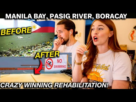 Philippines WINNING BATTLE of Rehabilitation! Manila Bay, Pasig River and Boracay Island REACTION