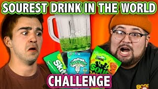 SOUREST DRINK IN THE WORLD CHALLENGE! (ft. React Cast) | Challenge Chalice