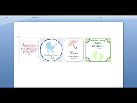 How to Make Tags and Printables with MS Word