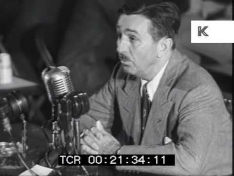 1947 Walt Disney Testifies at HUAC