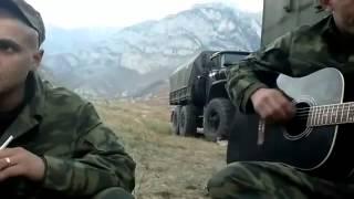 песня под гитару Зеленые глаза наши ребята в Чечне парни классно поют