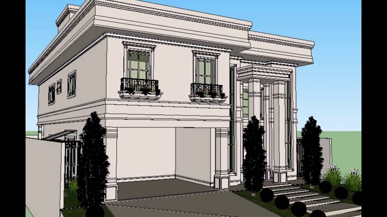 casa com fachada classica estilo americana youtube