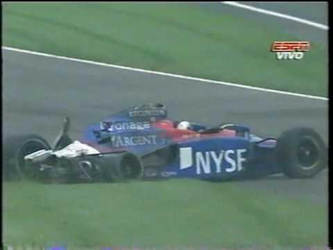 Marco Andretti flip 2007 INDY 500 (ESPAÑOL)