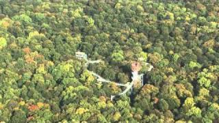 Baumkronenpfad im Hainich Thüringen Luftaufnahmen
