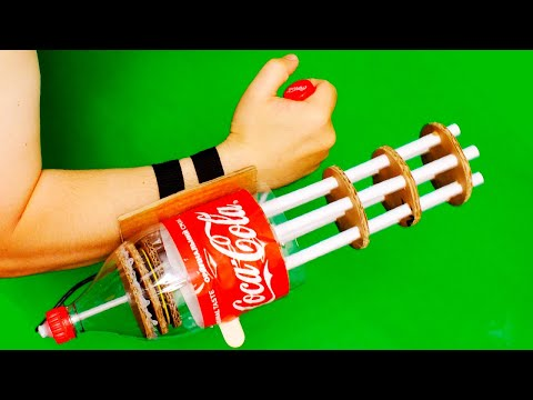 🔫 How To Make NERF MINIGUN Gatling from Coca-Cola PLASTIC BOTTLE DIY| MAD HANDMADE
