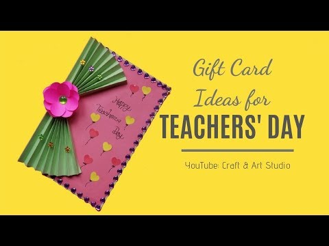 Teachers Day Gift Card Ideas | Handmade Teachers day card making idea