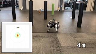 Sensor-Based Legged Robot Homing Using Range-Only Target Localization