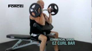 Olympic EZ Curl Bar - Gym Equipment from Force USA