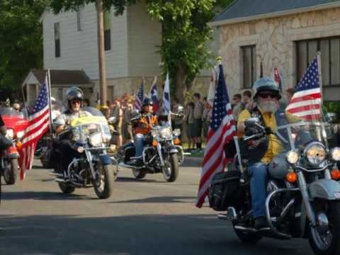 Texas Patriot Guard Riders at Capt. Tyler Voss Memorial Service In Boerne, Texas