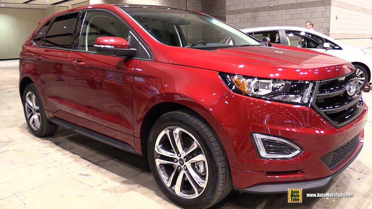 2015 ford edge sport exterior and interior walkaround 2015 chicago auto show youtube