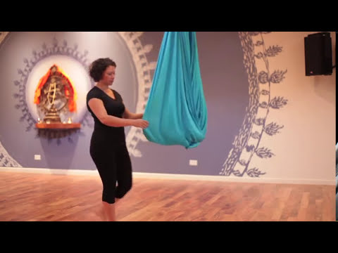 Aerial Yoga Pose Instruction How To Do A Shoulder Stand In An