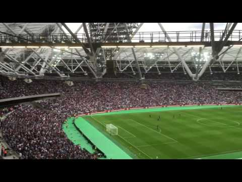 West Ham United I'm forever blowing bubbles Olympic Stadium London first ever