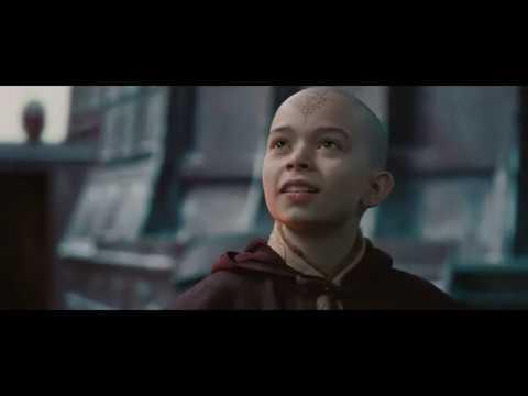 Повелитель стихий The Last Airbender  Аанг показывает свои способности