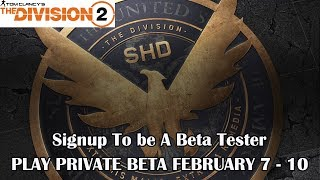 The Division 2 Beta Sign-up Released | Private Beta Begins February 7, 2019 | PS4, Xbox One & PC