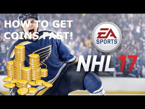 HOW TO GET COINS FAST IN HOCKEY ULTIMATE TEAM NHL 17!