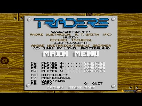 Traders: The Intergalactic Trading Game gameplay (PC Game, 1991)