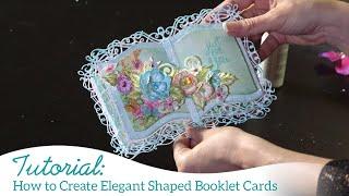 Wie Elegant Geformte Broschüre Karten