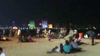 An Evening Clip at Girgaum Chowpatty Beach of Mumbai
