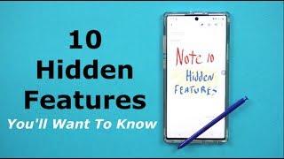 TOP 10 HIDDEN FEATURES - Galaxy Note 10/10+