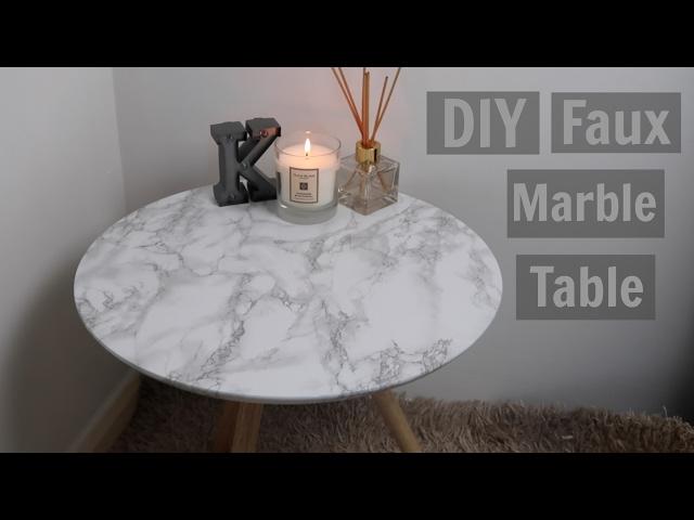 Diy Fabriquer Une Table Avec Un Plateau En Faux Marbre