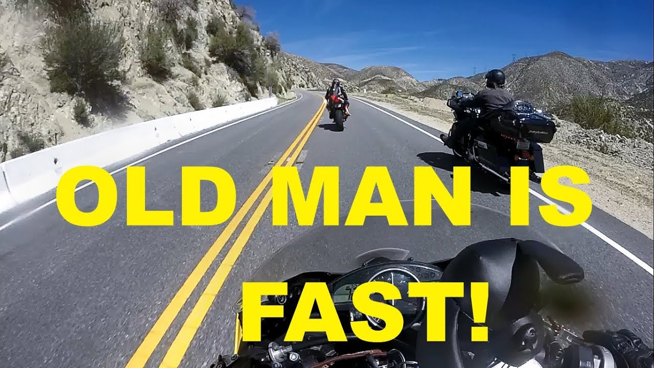Old Guy On Touring Bike Goes 100 Mph With Crotch Rockets Youtube
