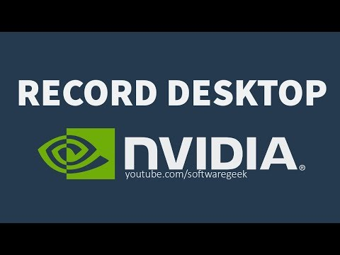 How To Record Desktop With Nvidia ShadowPlay | Record Screen in HD FREE!