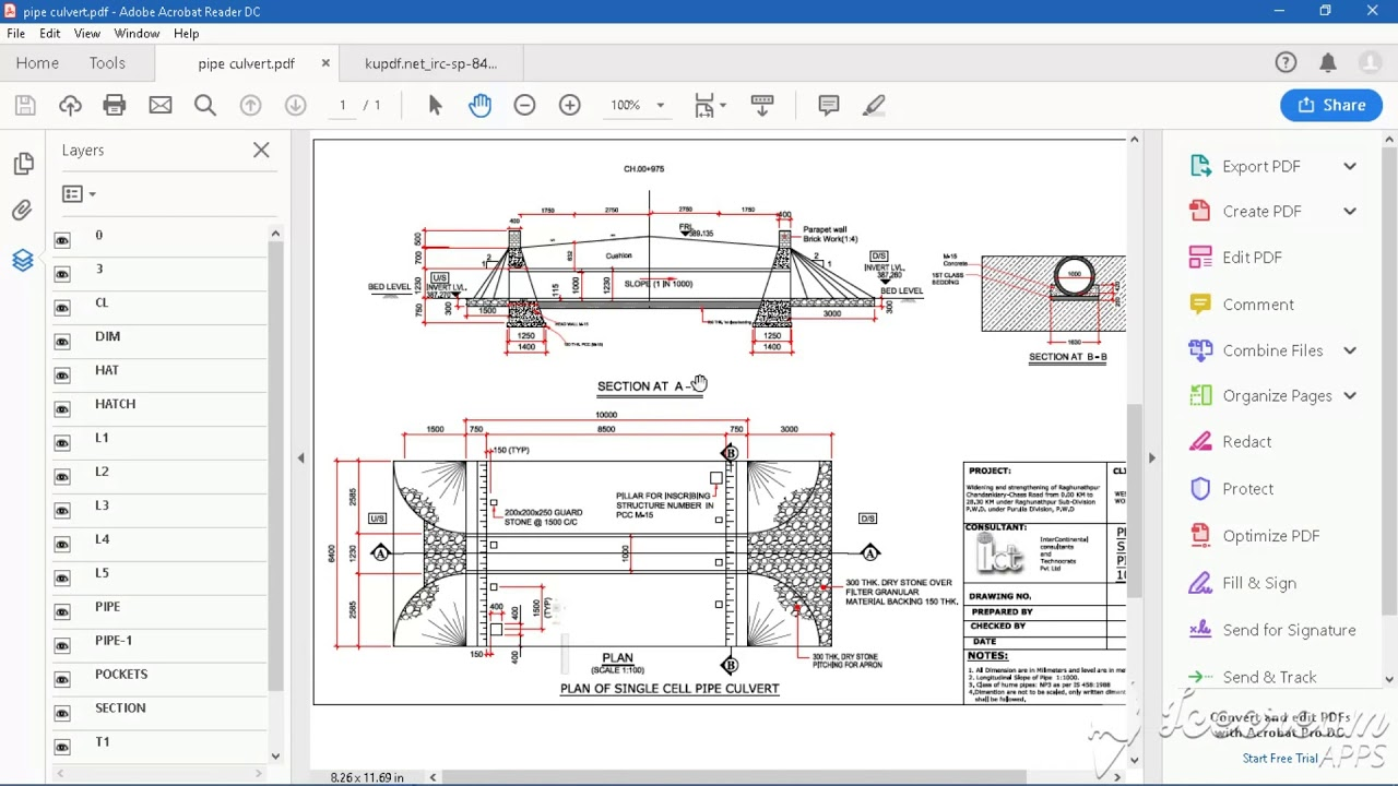 PIPE CULVERTS SPECIFICATION AND DRAWING