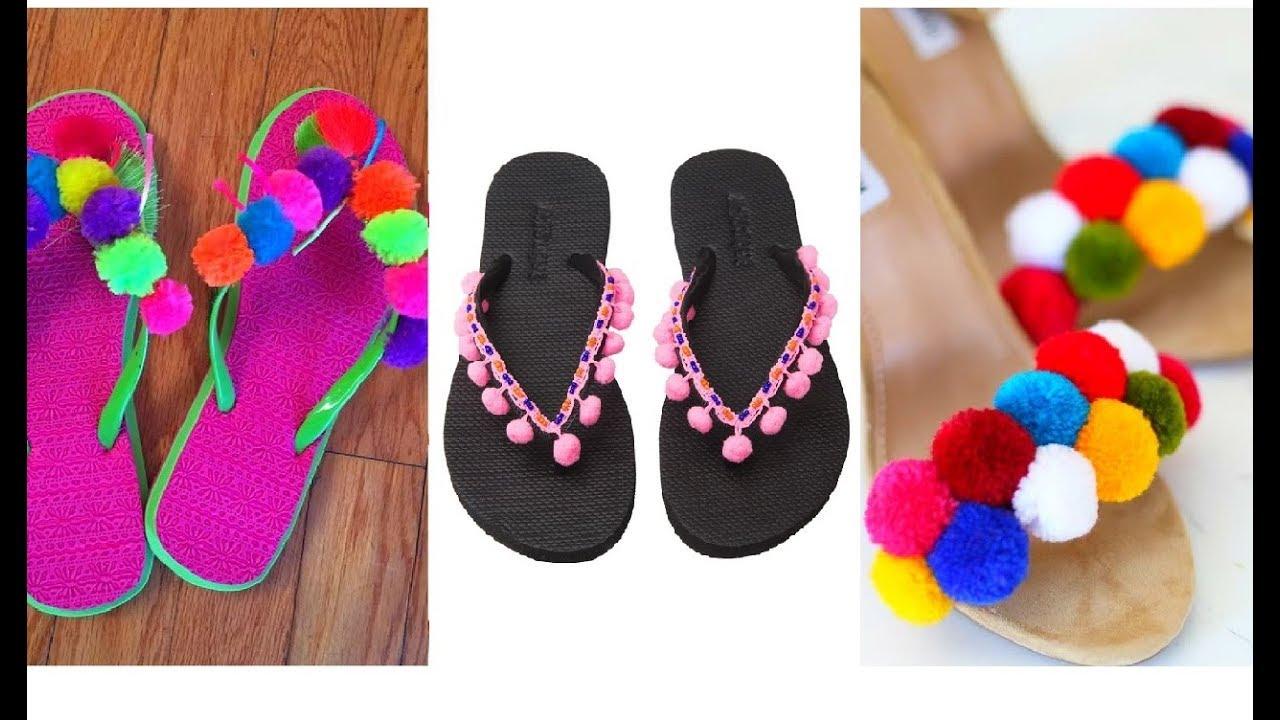 bf70913f354 Cute Pom Pom Fringe Flip Flops