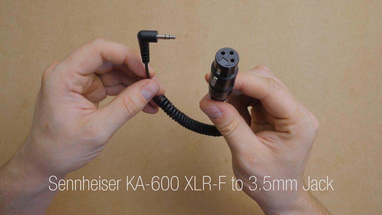 hight resolution of quick look sennheiser ka 600 xlr f to 3 5mm jack youtube xlr to mono diagram