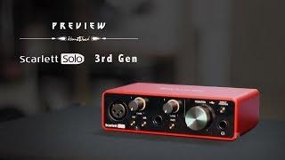 Focusrite Scarlett Solo Gen 3 Soundcard