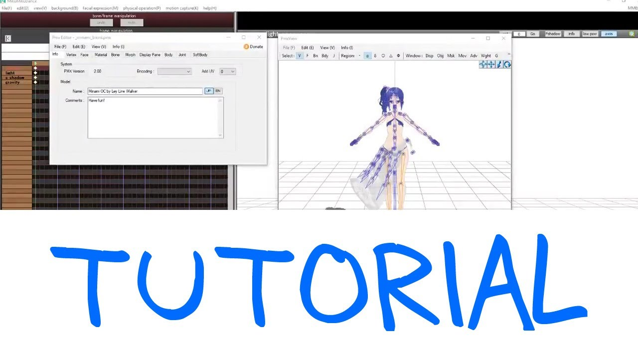 [PMX Editor Plugin Presentation] Adjusting Motions for MMD easily