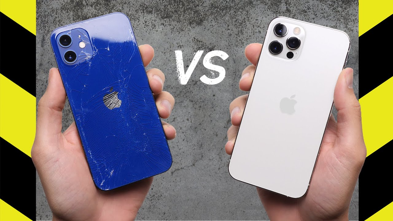 iPhone 12 vs. iPhone 12 Pro Drop Test! - download from YouTube for free