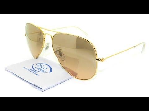 8b8812b346cee Óculos de Sol Ray-Ban Aviador Rosado 3025l 001 3e 58 - YouTube