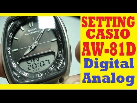aaa691099ad3 how to adjust the time on CASIO ILLUMINATOR(AQ-180W)