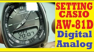 setting aw 81d 1avef   how to set time on casio aw 81d