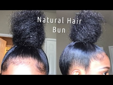 Sleek High Bun Tutorial Natural Hair Youtube