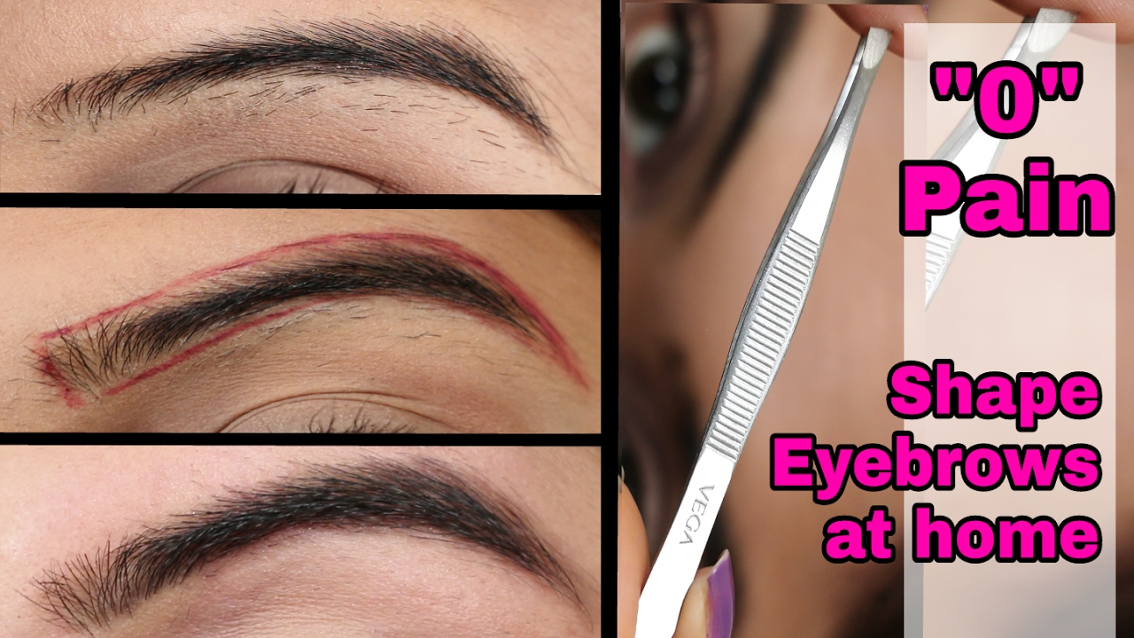 How to pull out eyebrows without pain 47