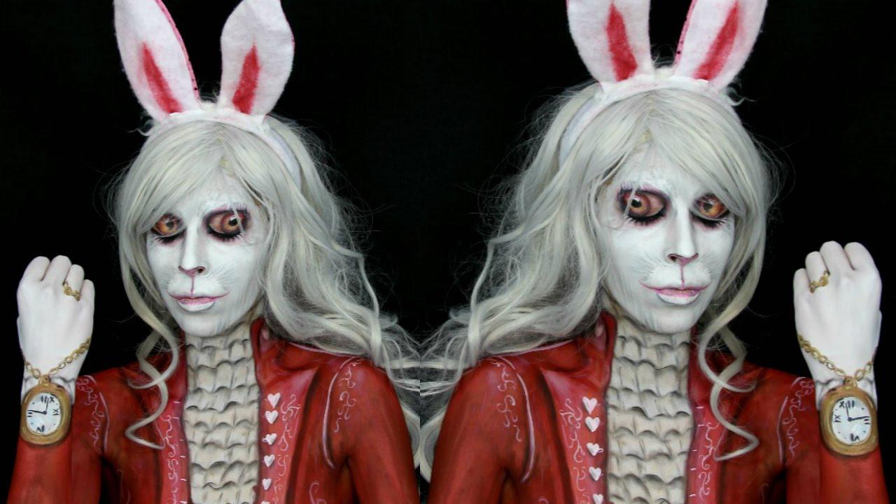 alice in wonderland white rabbit makeup tutorial youtube