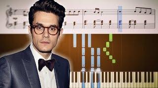 John Mayer - New Light - Piano Tutorial + SHEETS Video