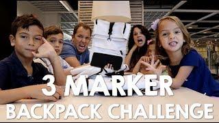 3 MARKER BackPack CHALLENGE! WHAT