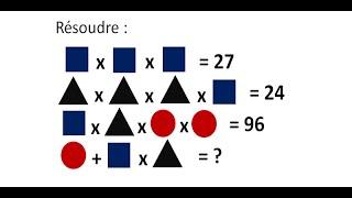 vuclip Raisonnement logique. Problème de math. Equation avec des formes géométriques