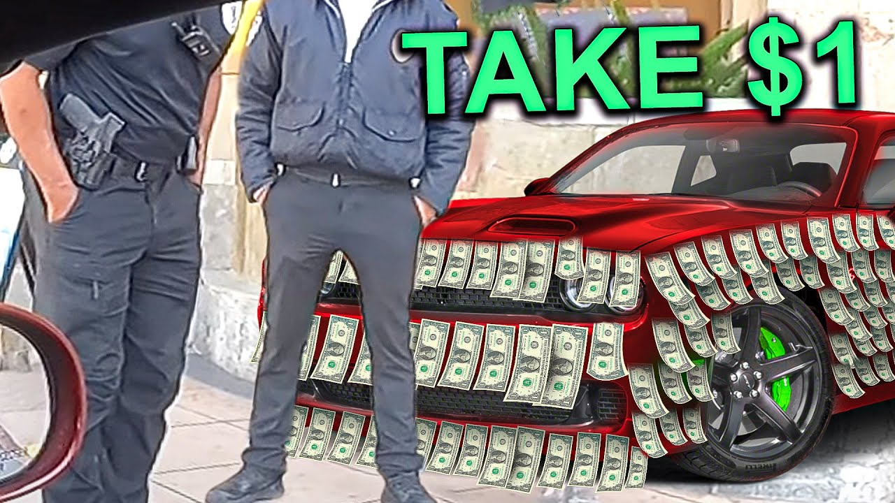 will strangers take $100,000 taped to a Car in public?