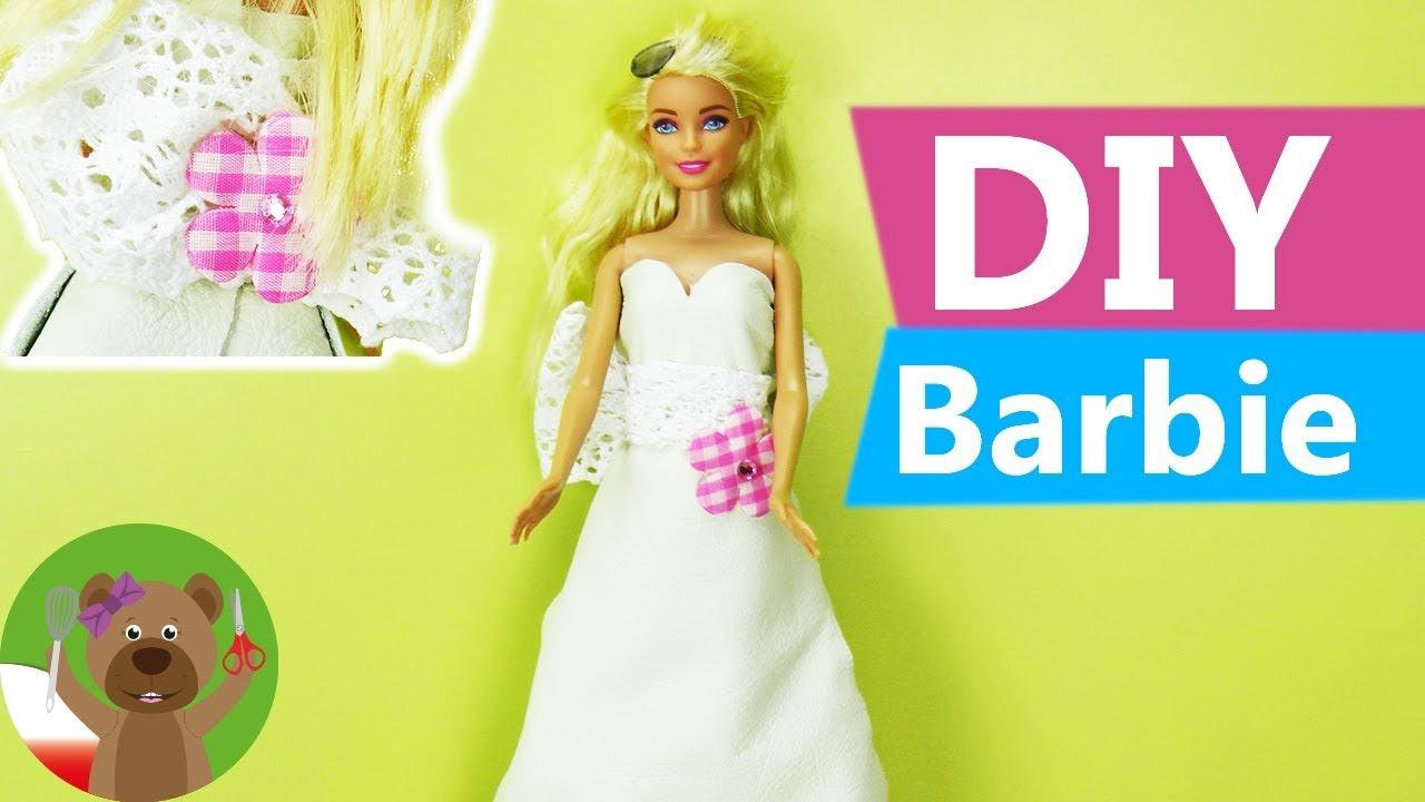 Diy Sukienka ślubna Dla Barbie Zimowa Sukienka ślubna Dla Lalek