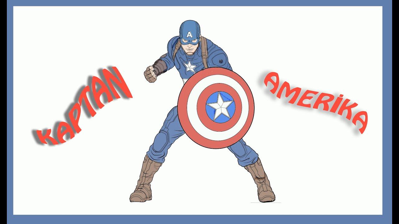 Cocuklar Icin Boyama Kaptan Amerika Colors For Kids Youtube
