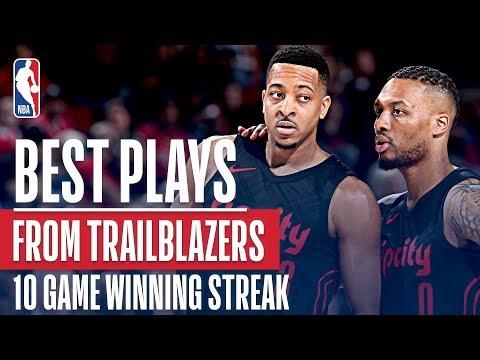 Best From The Portland Trail Blazers' 10 Game Win Streak!