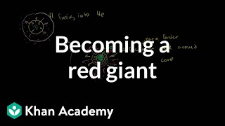 Becoming a red giant | Stars, black holes and galaxies | Cosmology & Astronomy | Khan Academy